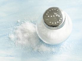 Salt shaker, close-up