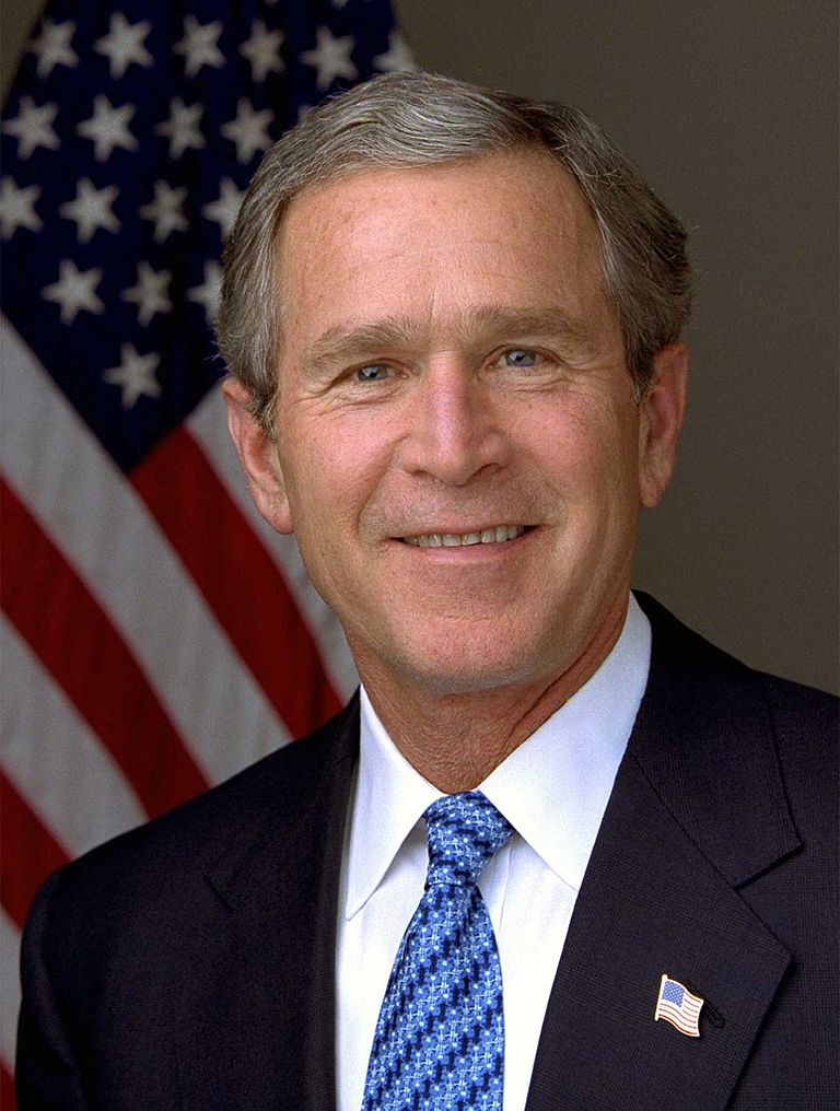 Presidential portrait of George W. Bush.