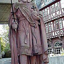 Statue of Charlemagne in Frankfurt