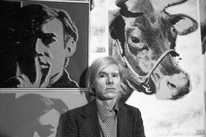 Andy Warhol At His Whitney Museum Retrospective
