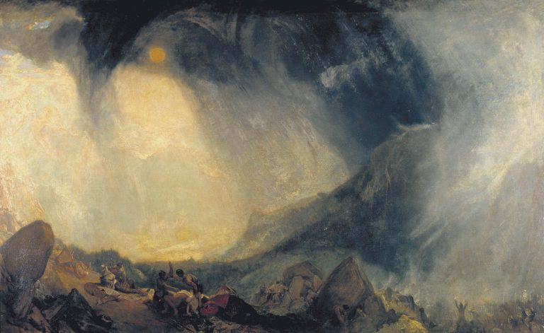 turner snow storm hannibal crossing the alps