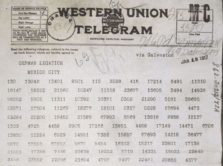 Text of the Zimmermann Telegram