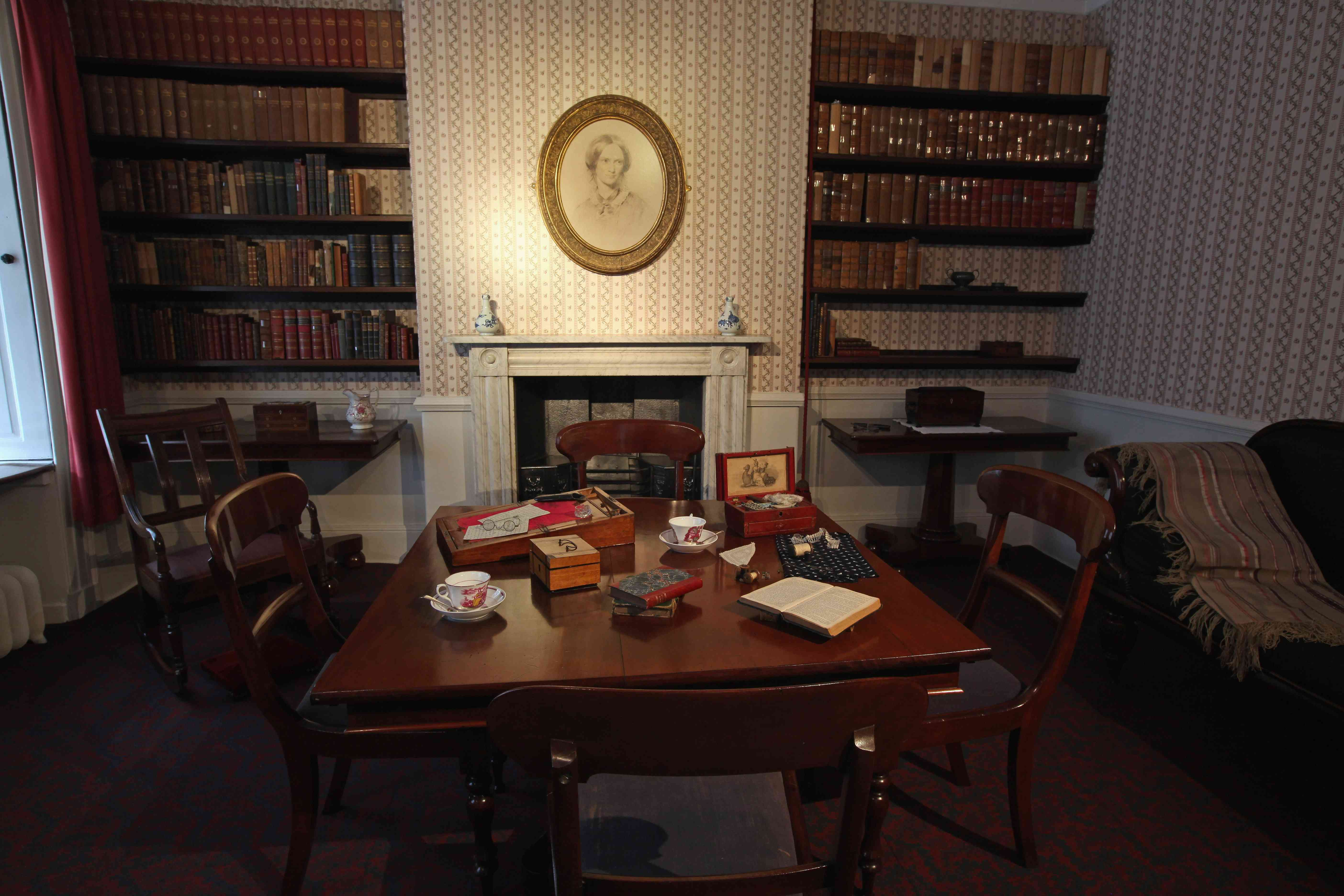 The dining room of the Bronte Parsonage Museum
