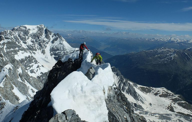 mountain climbers in the Alps