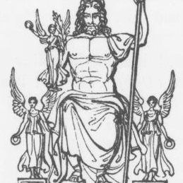 An image of the god Jupiter or Zeus from Keightley's Mythology, 1852.