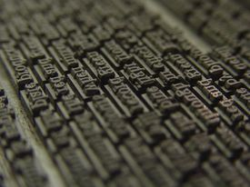 Letters for a printing press