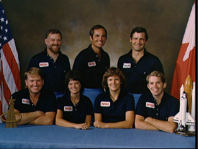 Official Photo of 41-G Crew Including Kathryn Sullivan and Sally Ride