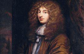 Portrait of Christiaan Huygens.