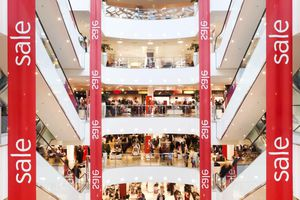 Sale Banner in Mall