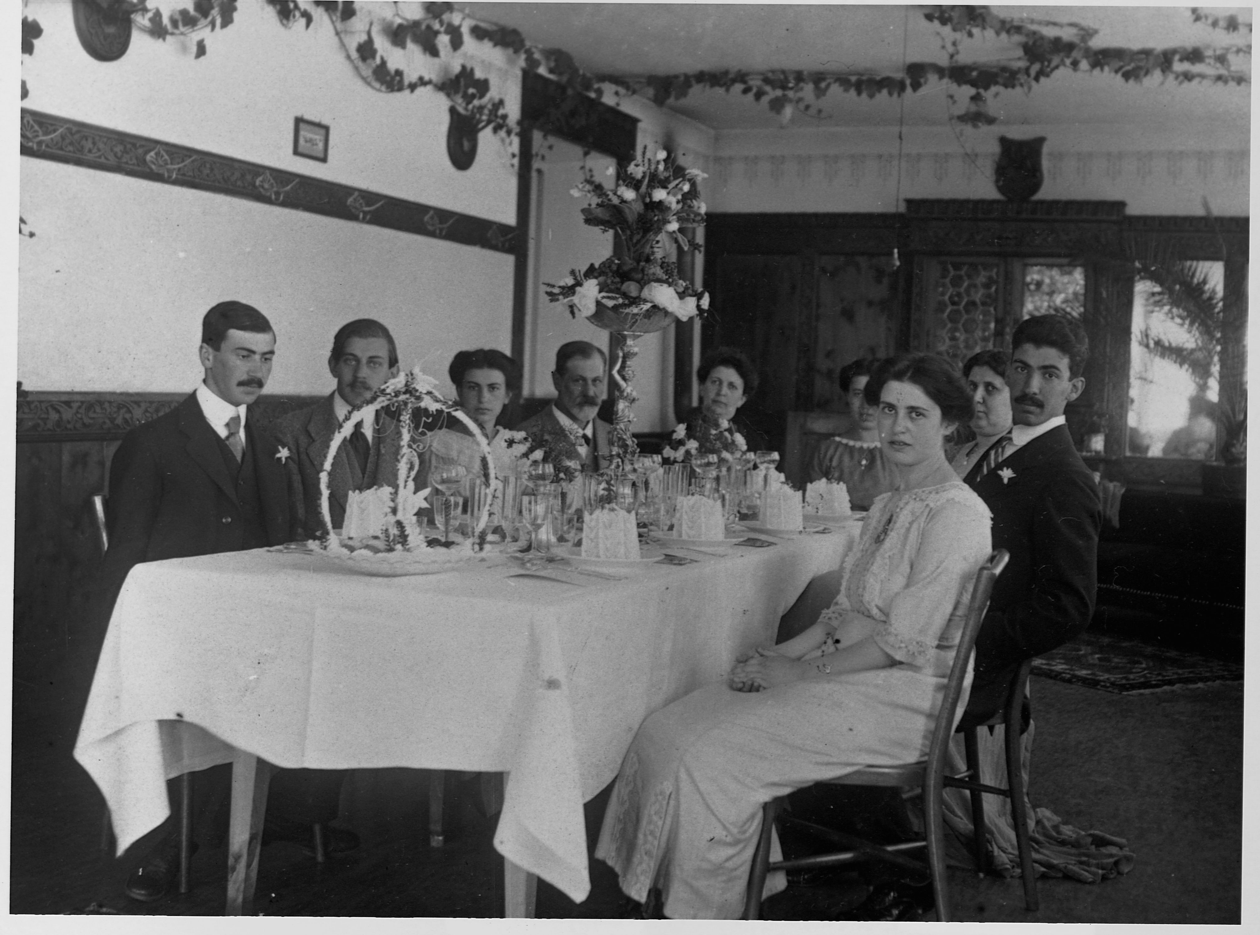 Sigmund Freud Dining with Family