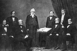 James Buchanan with his cabinet