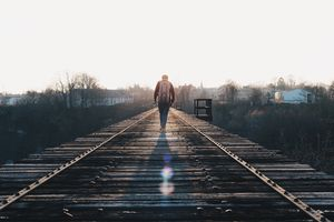 person walking away