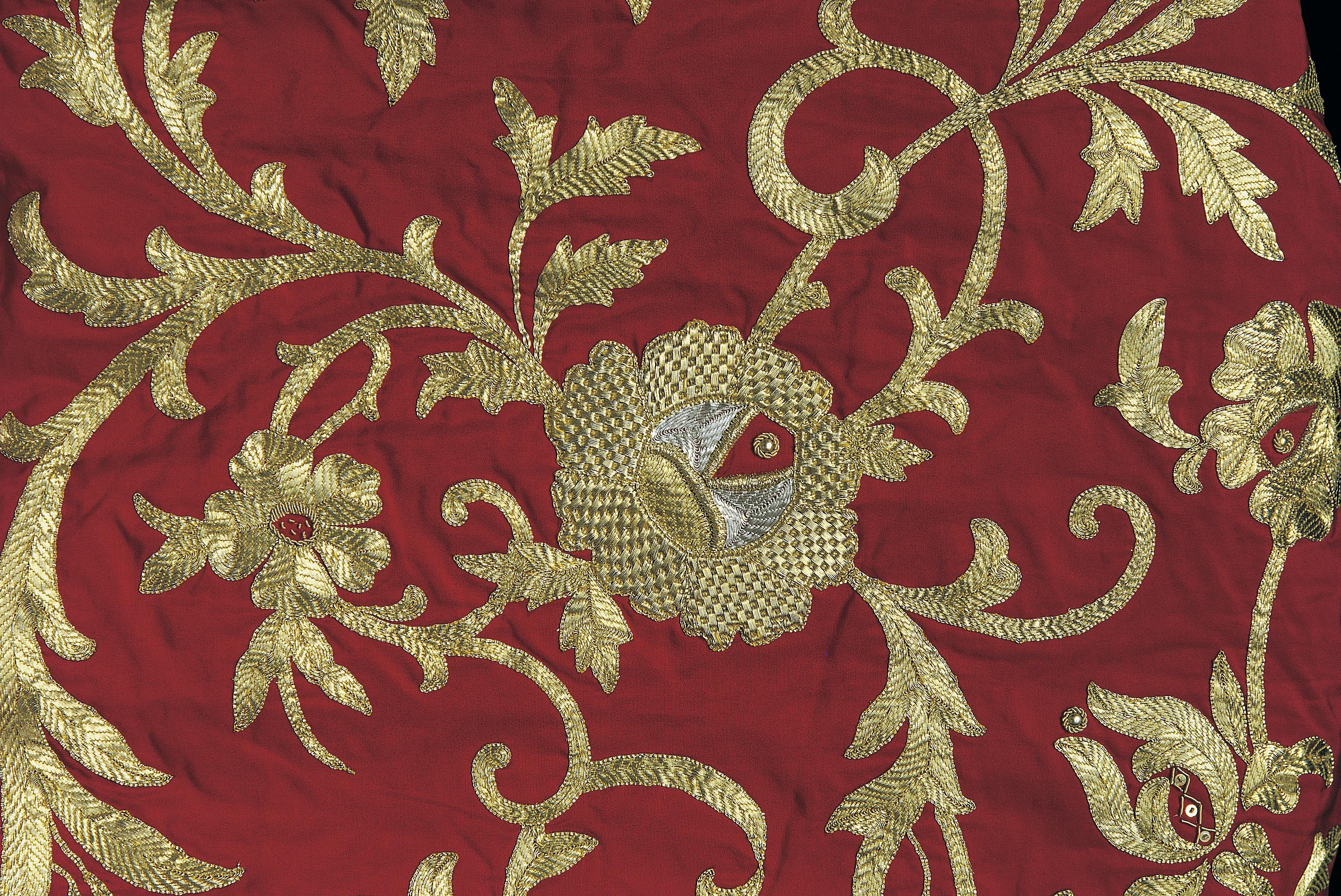 Both gold and silver can be drawn into threads and used to embroider cloth.