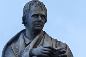 statue of Sir Walter Scott in Edinburgh