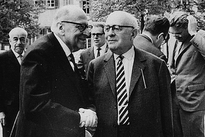 Max Horkheimer and Theodor Adorno in 1964