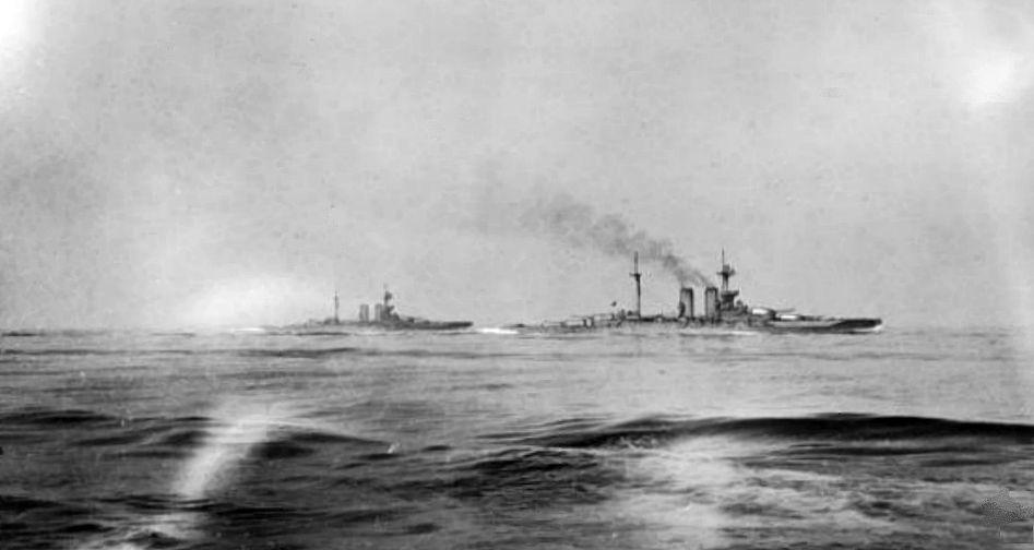 HMS Warspite at Jutland