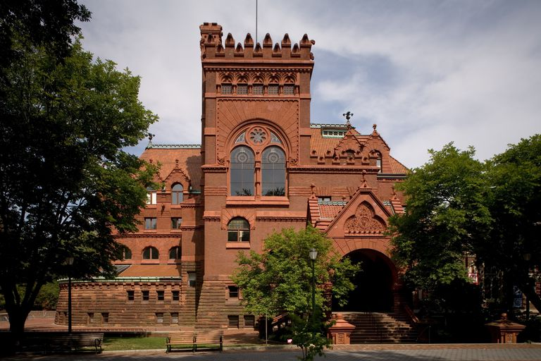 The Furness Library (Fisher Fine Arts Library) Designed by Architect Frank Furness, 1891, at the Univ. of Pennsylvania in Philadelphia