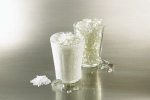 Adding salt to ice doesn't just melt it. It also makes it colder because of freezing point depression.