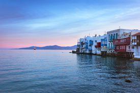 Little Venice on Mykonos, Greece