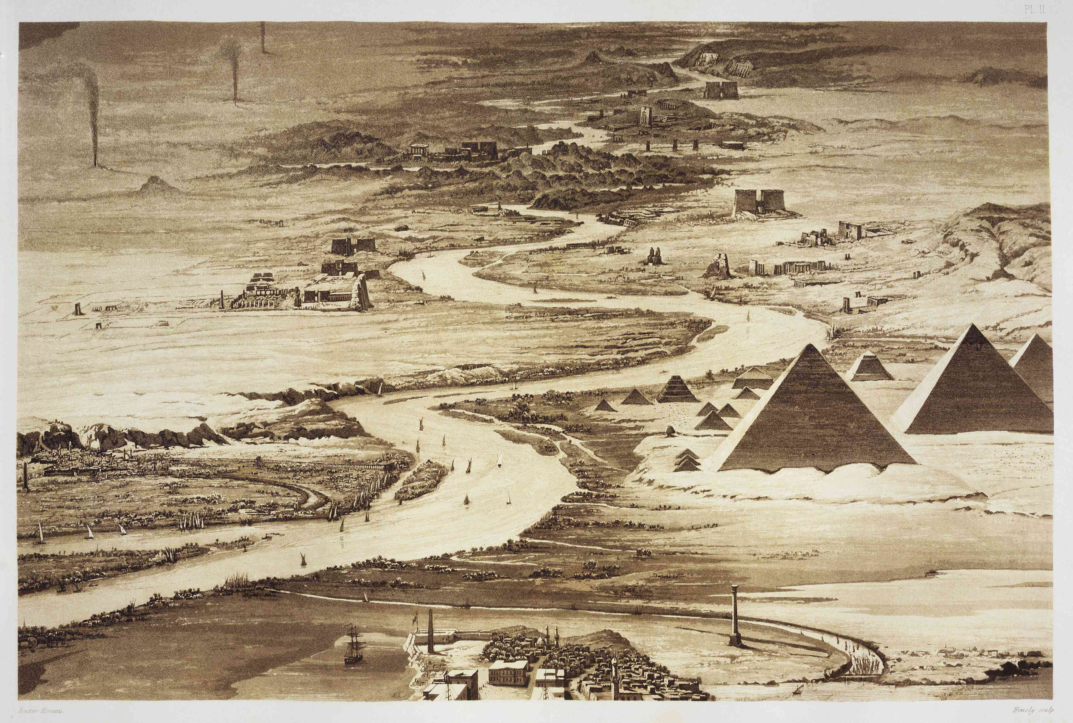 Egypt, Nubia, view of Valley of the Nile from Alexandria at second cataract