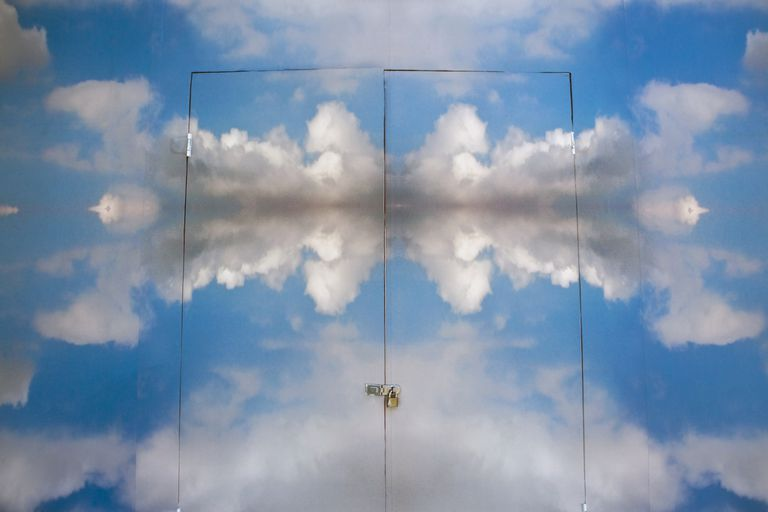 heaven door portal clouds