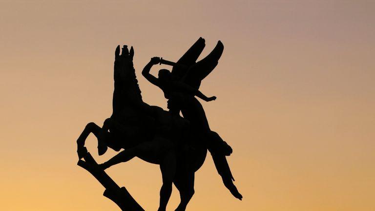 Angel warrior horse sword battle