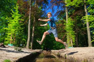 Big leap over the river of life