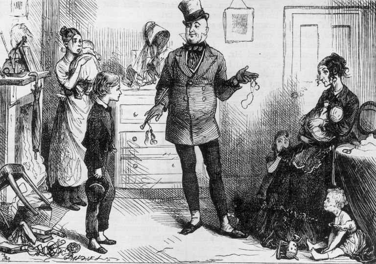 Mr Micawber introduces David Copperfield to Mrs Micawber.