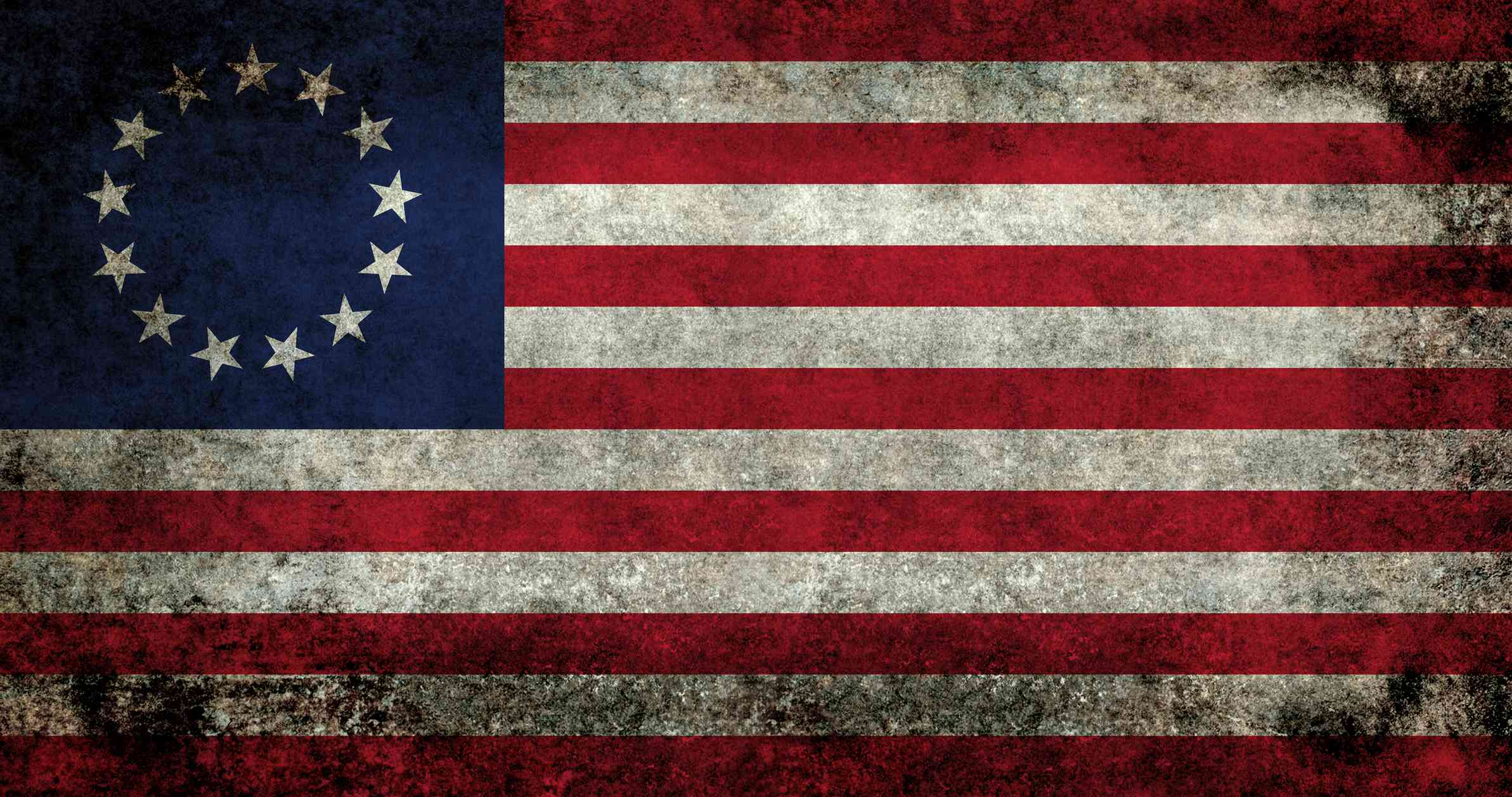 USA flag, the Betsy Ross version with grungy treatment