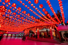 Red lanterns decorations for Chinese new year