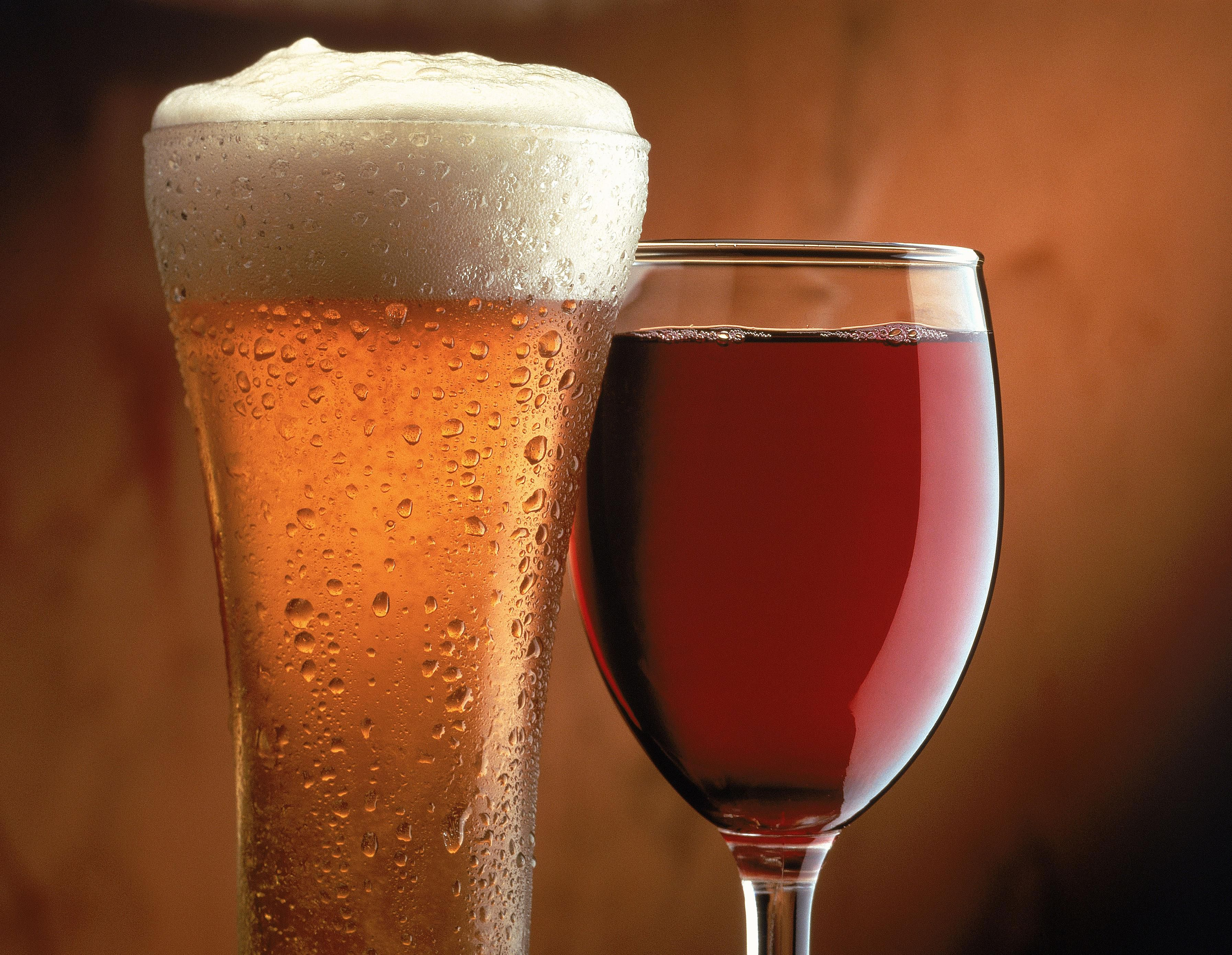The wine and beer simulated by this chemistry demonstration aren't alcoholic, nor are they good to drink.