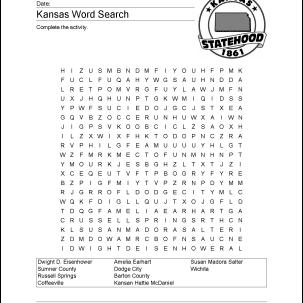 Kansas Wordsearch