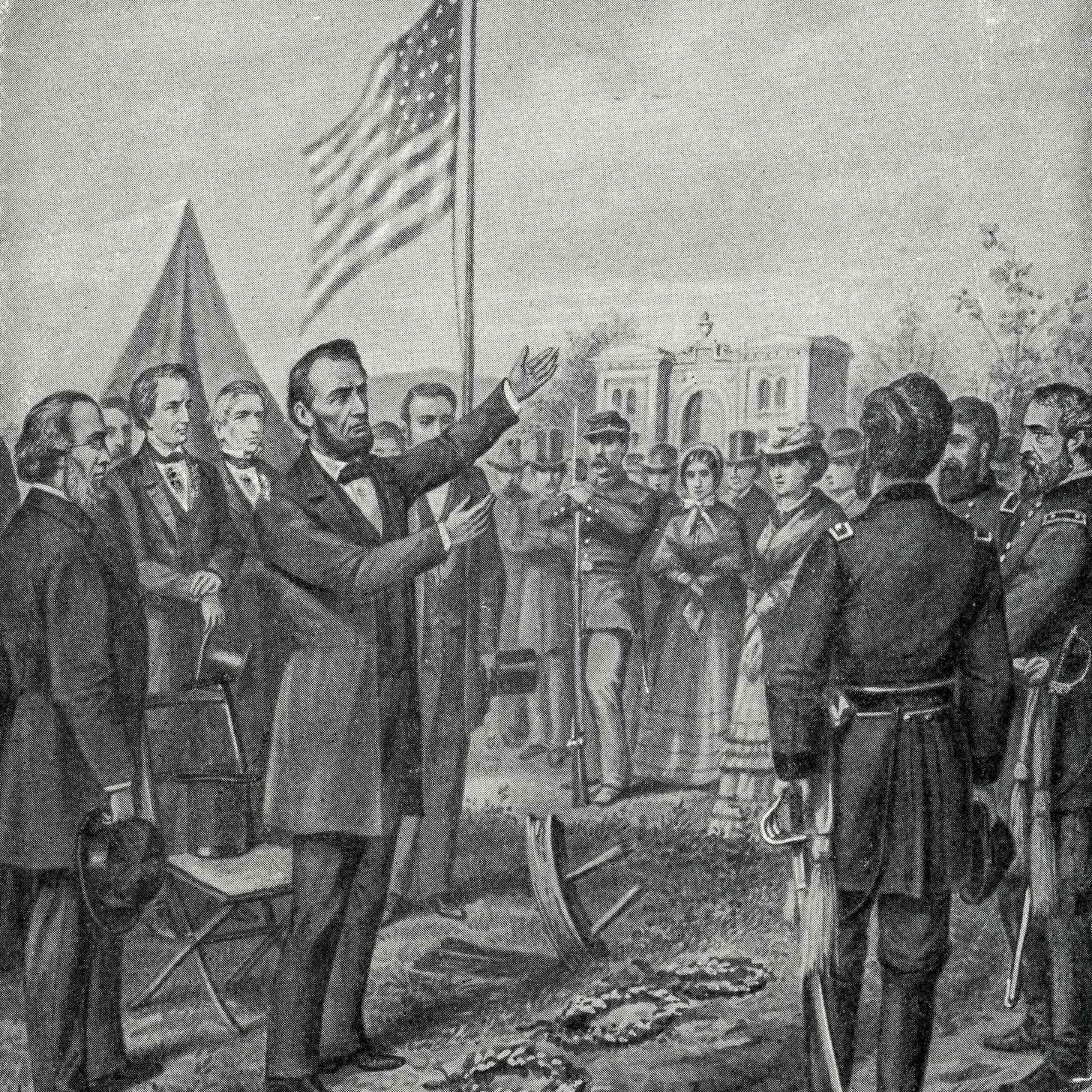 Abraham Lincoln at Gettysburg 1897