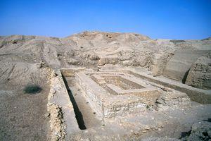 Ruins of the Bit Resh temple in the ancienct Sumar city, Uruk
