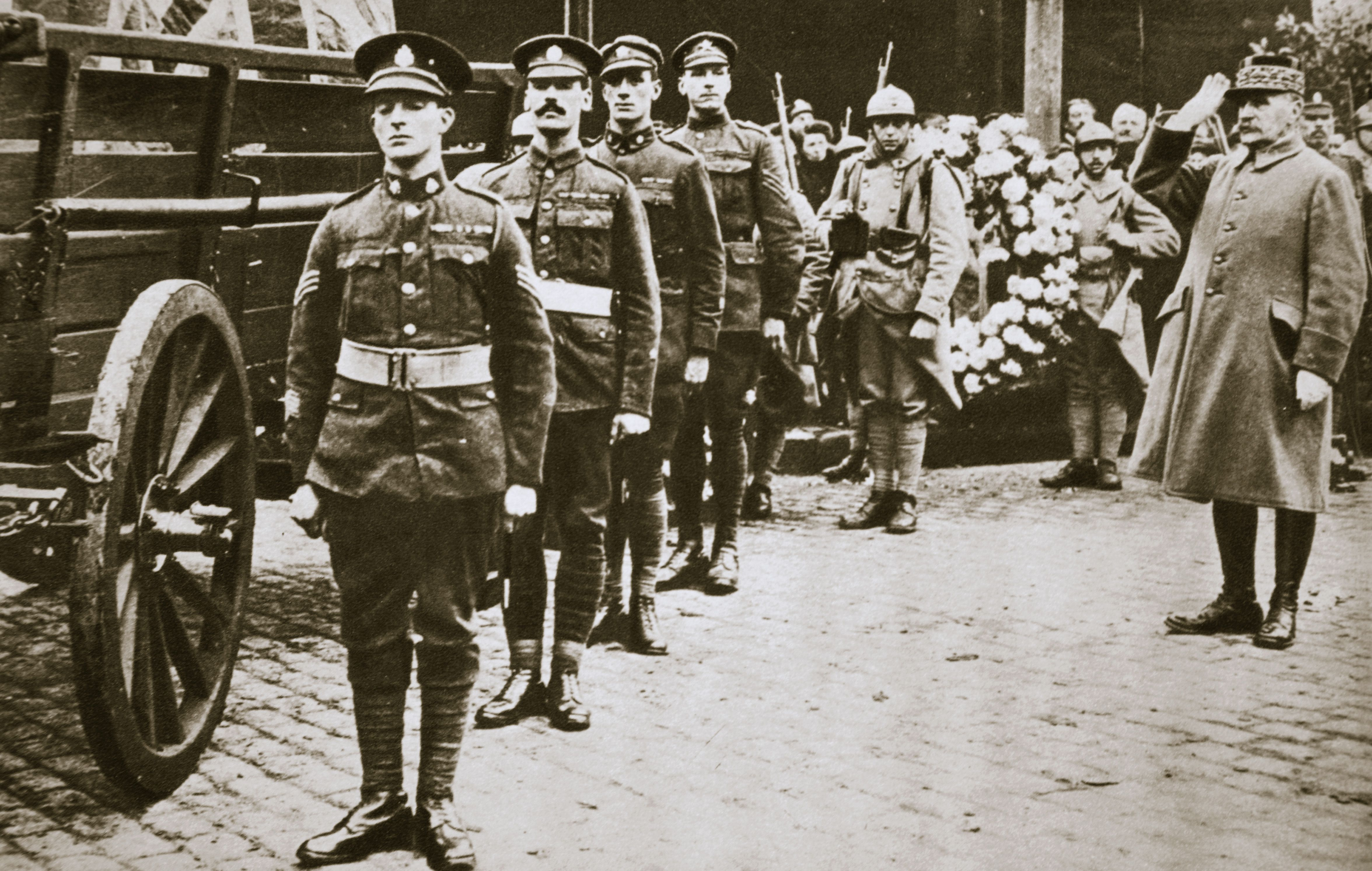 Marshal Foch French General Saluting The British Unknown Soldier circa 1918