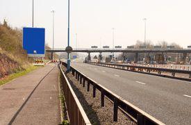 British motorway toll booths