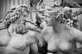 Athena and Zeus statue