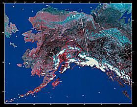 Photomosaic Map of Alaska