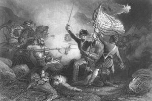 Illustration of a battle during the Mexican-American War