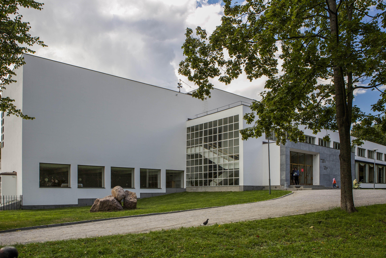 International modernist style library by Finnish architect Alvar Aalto