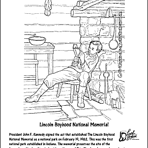 Abraham lincoln printable word search for Lincoln memorial coloring page