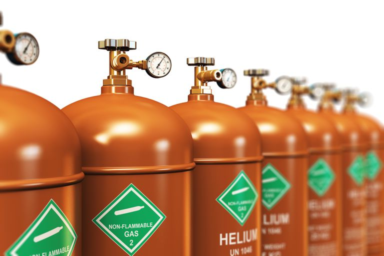 row of helium tanks
