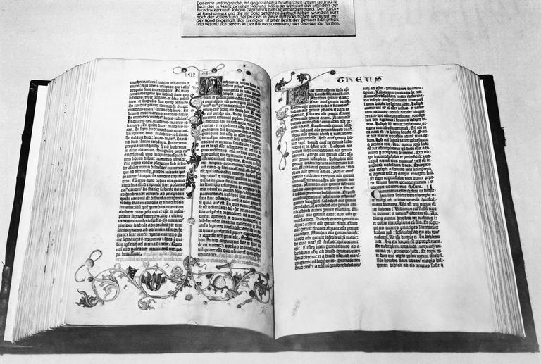 The Gutenberg Bible was printed by Johannes Gutenberg