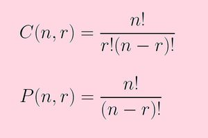 The formulas for combinations and permutations