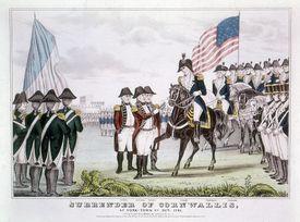 'Surrender of Cornwallis', Yorktown, Virginia, 1781.
