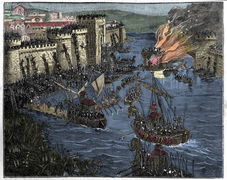 Illustration of Normans Laying Siege to Paris