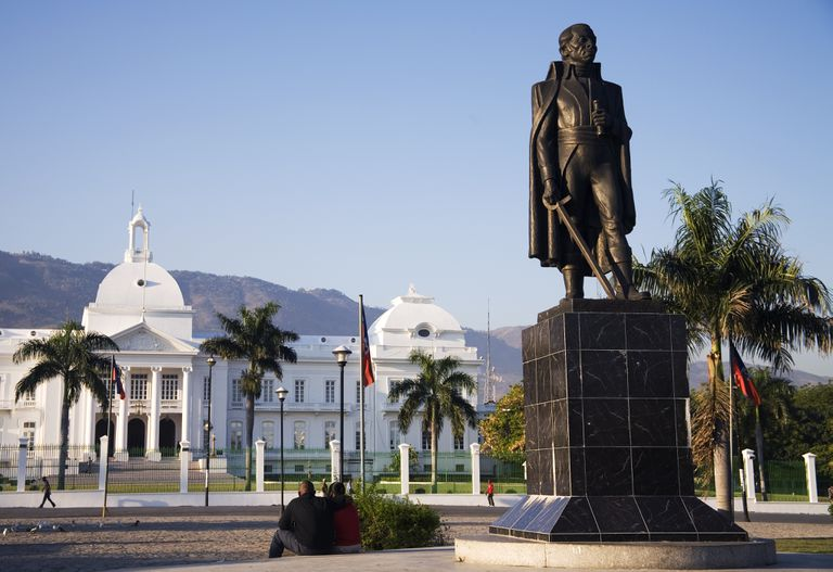 Statue of Toussaint Louverture in Port-au-Prince, Haiti