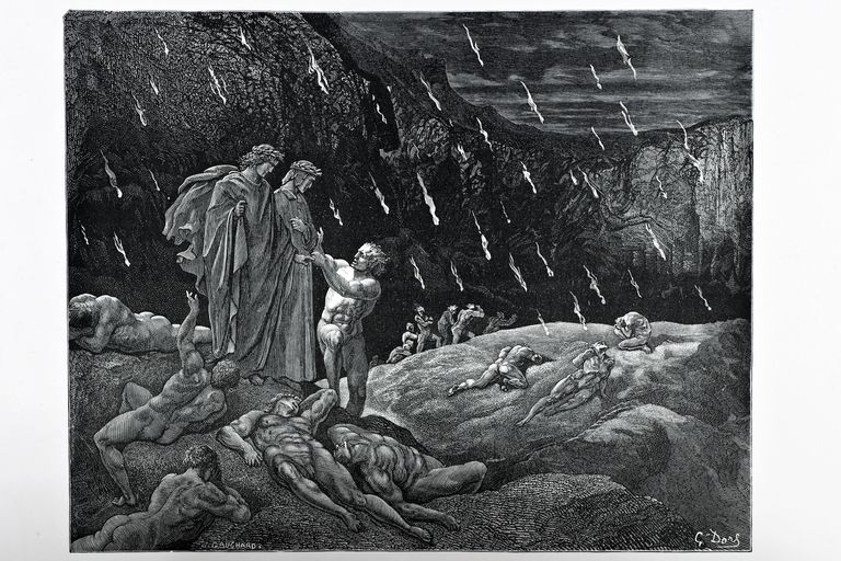 engraving from Dante's Inferno