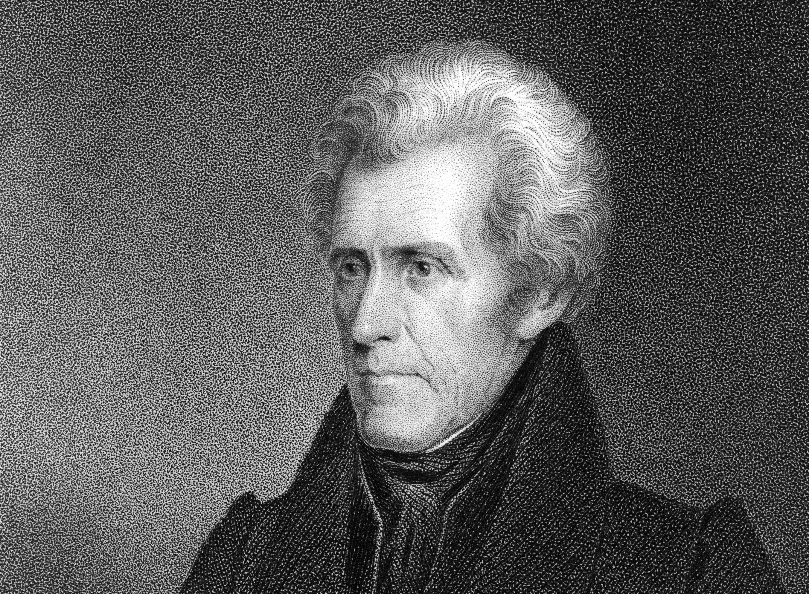 Engraved portrait of Andrew Jackson