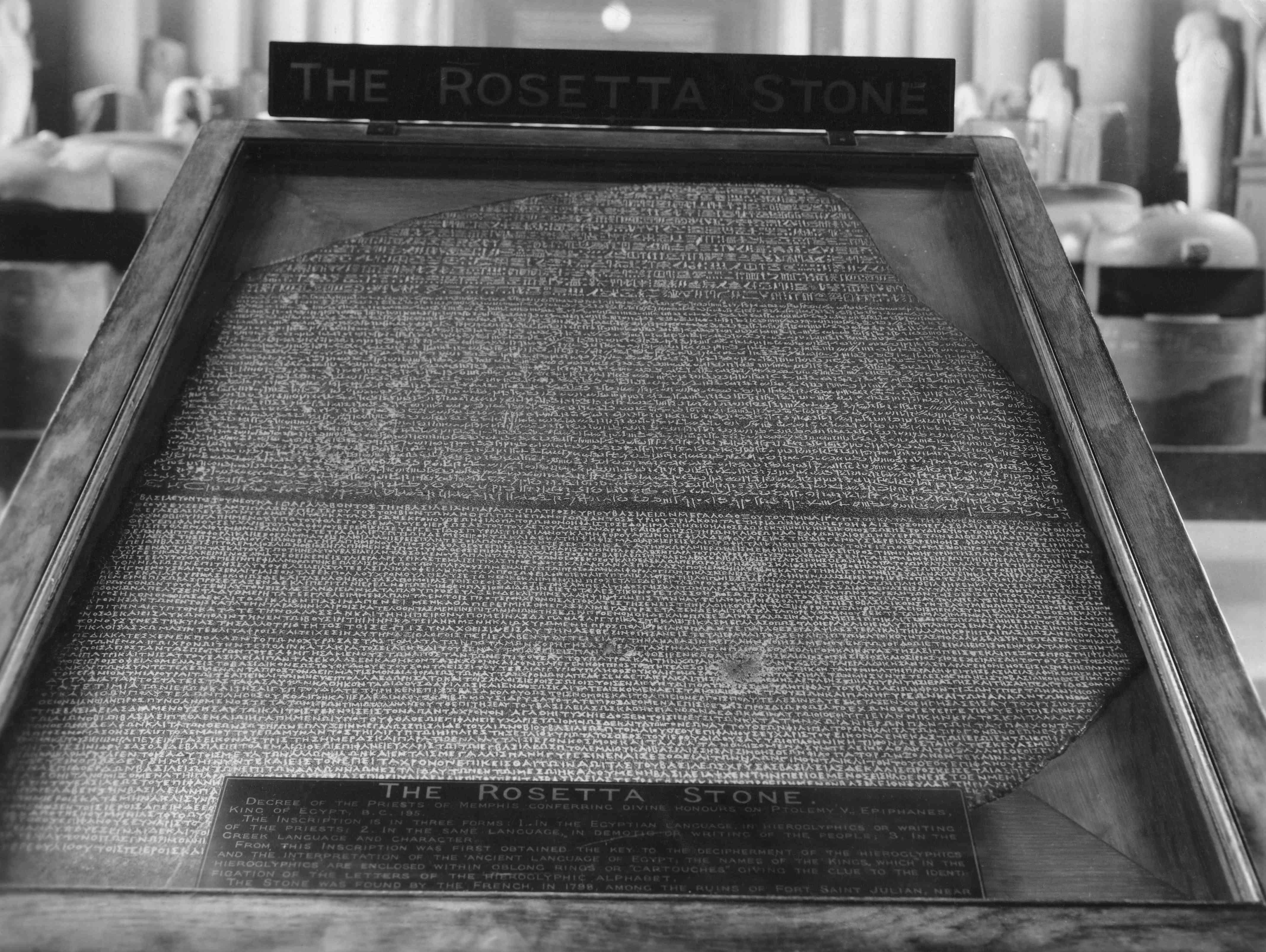 The Rosetta Stone written in three languages